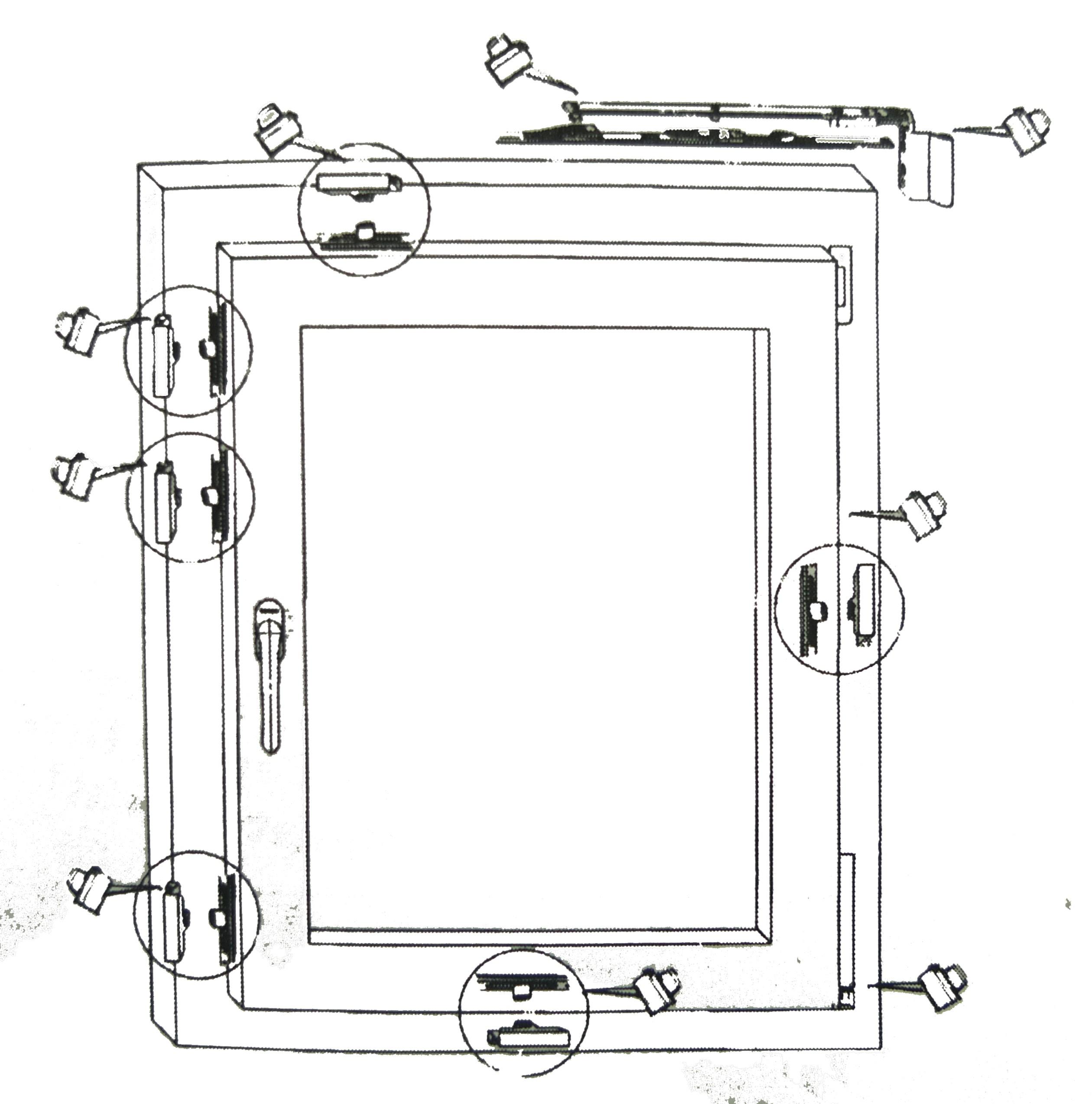 Mazání kování plastových oken