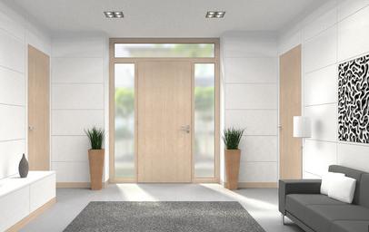 Prosklené vchodové dveře s trojsklem