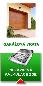 Nezávazná kalkulace pro garažová vrata