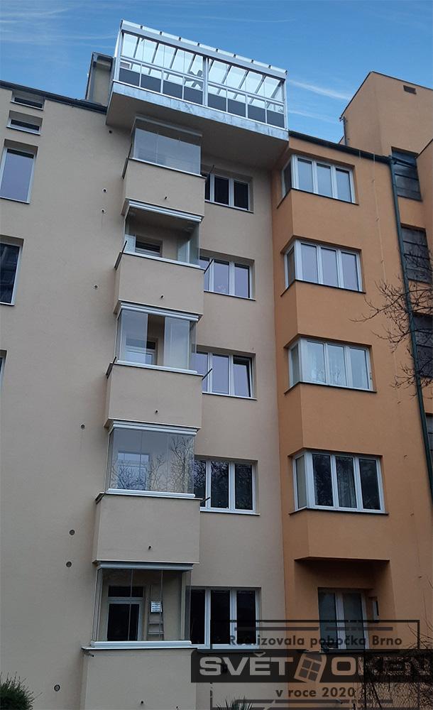 Reference zasklení Brno