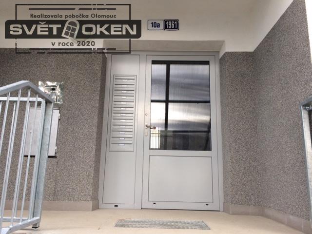Reference Olomouc - hliníkové vstupní dveře